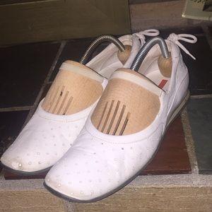 Prada Slip On White Comfort Shoes Size 37.5/7.5